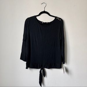 NWT Ellen Tracy Relaxed-Fit Long-Sleeve Tunic